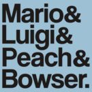 Mario & Luigi & Peach & Bowser - Black by ScottW93