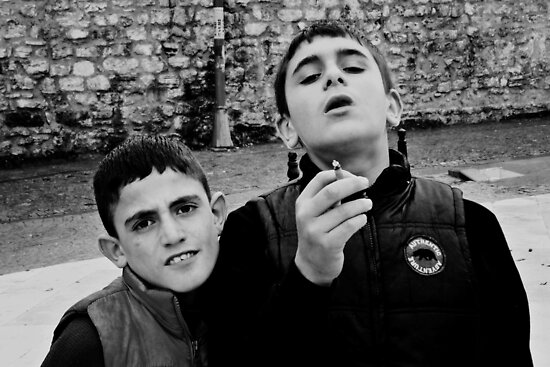 Proud Smoker And His Friend by Mojca Savicki