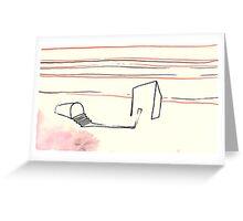 Land Line - 6 Greeting Card