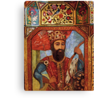 Wall Detail from Golestan Palace Canvas Print