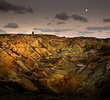 Moonrise over Parys Mountain by Raymond Kerr