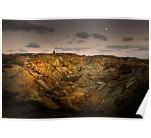 Moonrise over Parys Mountain Poster
