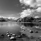 Derwentwater, English Lake District in B&amp;W by Bob Culshaw