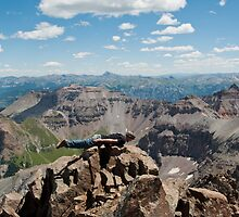 14,000 Ft Plank! ~ On Mount Sneffels  by Roschetzky