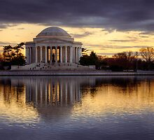 Jefferson Memorial at Sunset, Washington D.C. by strangelight