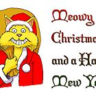 Meowy Christmas Card by rocamiadesign