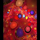 Skittles in My Lava Lamp Red iPhone Case by chrispy