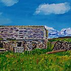 &quot;Ruined Cottage and Farm Buildings on Longmore Road, Broughshane, County Antrim&quot; by Laura Butler