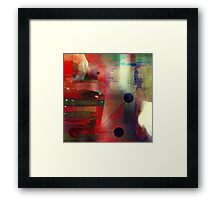 The undeniable abstract reality Framed Print