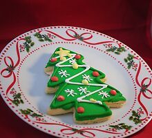 x-mas tree cookie by Caitlin  Photography