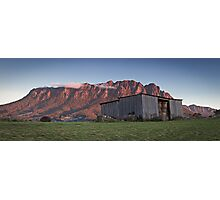 Sunset on Mt Roland  Photographic Print