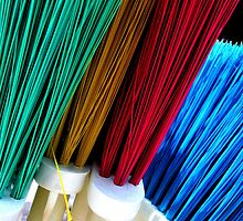 """ Rainbow of Brooms "" by waddleudo"