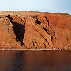 A Panorama of Red Beach, Santorini by pixntxt