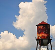 Water Tower in the Sky by joevoz