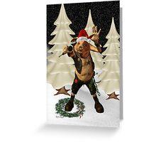 Christmas Pork ?? .. fun fantasy Greeting Card