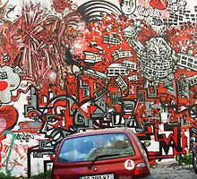Unbelievable red graffiti by Carol Dumousseau