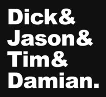 Dick & Jason & Tim & Damian by zorpzorp