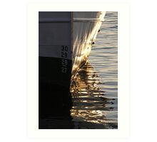 Gothenburg quayside reflections Art Print