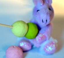 Cute Unicorn with Dango by Cyndy Ejanda