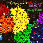 Have a gay holiday season - greeting card by Scott Mitchell