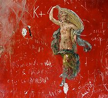 Fresco and Graffiti, Pompeii by Malcolm Clark