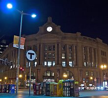 Boston South Station a December Evening  by Jack McCabe