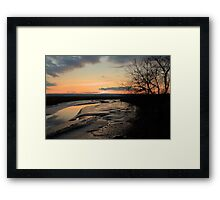 Padilla Bay Estuary at Dusk Framed Print