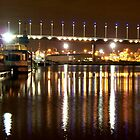 Melbourne Docklands at Night 6564 by Kayla Halleur