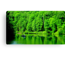 Fishing on Chris Green Lake    ^ Canvas Print