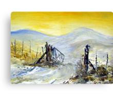 Winter on a farm in the Karoo Canvas Print