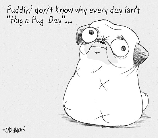 Puddin&#x27; don&#x27;t know why every day isn&#x27;t Hug-a-Pug day. by PuddinDont