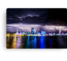 Perth Lightning Storm Canvas Print