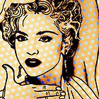 Madonna on Blue Dots  by ricardogarcia1