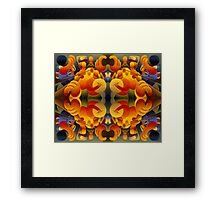 Musical repetition composition Framed Print