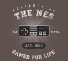 Property of the NES - Athletic Style Shirt - Light Kids Clothes
