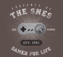 Property of the SNES - Athletic Style Shirt: Light by thehookshot