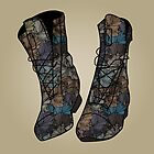 Floral Boots by annabours