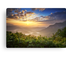 Highlands Sunrise - Whitesides Mountain Landscape Canvas Print
