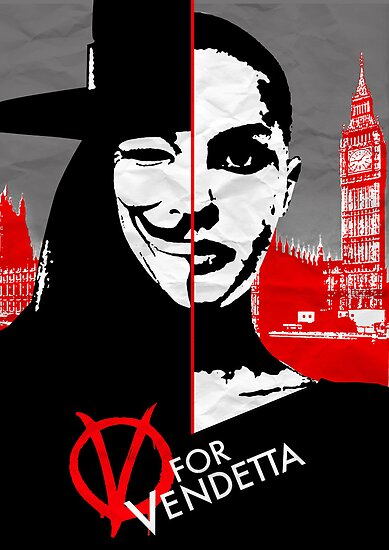 v for vendetta minimal poster by Zoe Toseland