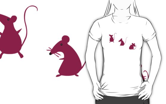 Mouse Party (T-shirt) by Evangeline Than