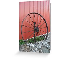 Vintage Wagon Wheel Greeting Card