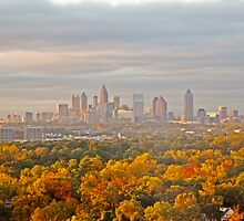 Atlanta Skyline in Autumn by Shutter and Smile Photography