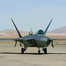 F-22 Raptor Taxiing by Henry Plumley