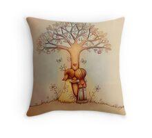 underneath the apple tree Throw Pillow