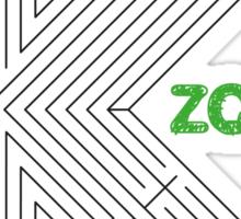 aMAZEing (Black+Green) Sticker
