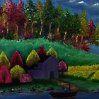 Oil painting on canvas - Landscape by eartsteam