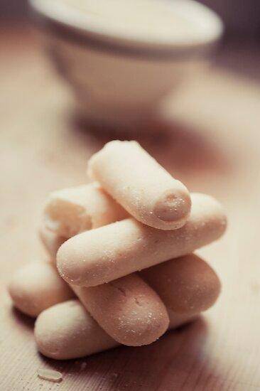 A jenga made up using breadsticks by Patrizia  Corriero