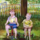 Cousins on Bikes by hickerson
