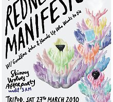 The Redneck Manifesto Friendship Launch Poster 2010 by M&E  Design