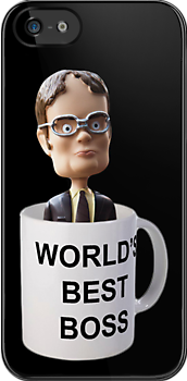 Dwight Schrute Bobblehead in Michael Scott's World's Greatest Boss Mug - The Office by CalumCJL